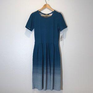 NWT LuLaRoe Amalie Dress. Beautiful Teal!!! Large
